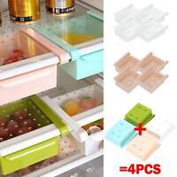 4PCS Fridge Box Holder Kitchen Shelf Organiser Cupboard Holder Storage Basket