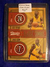 2009-10 Classics Classic Combos #1 Kobe Bryant & Lamar Odom L.A. LAKERS