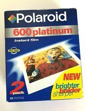 Polaroid 600 Platinum Instant Film 2 Pack 20 Photos Expired 01/00