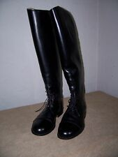 ENGLISH RIDING BOOTS WOMENS TALL BLACK LEATHER FLEECE LINED - SIZE 6 1/2