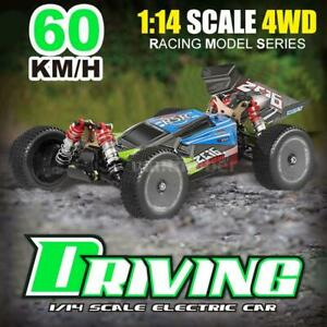 Wltoys 144001 RC Car 60km/h 1/14 2.4G RC Buggy 4WD Racing RTR + 2 Batteries