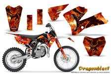 KTM SX85 SX105 2006-2012 GRAPHICS KIT CREATORX DECALS DRAGONBLAST NP