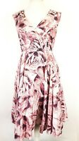 Phase Eight Floral Retro 50s Midi Fit and Flare Dress UK 12 Occasion Wedding