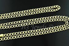 14k solid yellow gold hollow curb chain necklace lobster 3.10 grams #2120 20inch