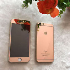 Rose Gold Mirror Tempered Glass Front Back Screen Protector Apple iPhone 7 Plus