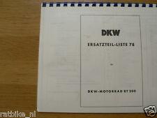 D0057 DKW---ERSATZTEILE-KATALOG 78   RT200----MODEL