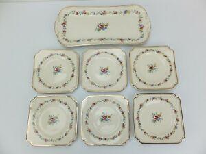 ROYAL DOULTON St James D6028 Sandwich Platter and Plates