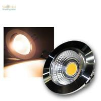 LED empotrado Blanco Cálido COB aluminio, 230v Foco de empotrar Lámpara de techo