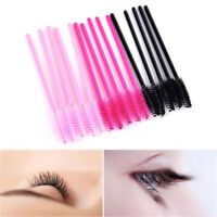 50Pcs Silicone Head Disposable Mascara Wands Eyelash Brushes Lash Extention JT