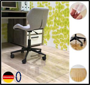 Bodenschutzmatte Bürostuhlunterlage Bodenmatte Stuhlunterlage Transparent Klar