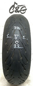 Michelin Road 5 2ct    190/50zr17 73w    Part Worn Motorcycle tyre 776