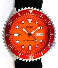 Seiko Diver's Custom Automatic Mens Watch SKX011J1 - ORANGE - DE LA SOL - NEW