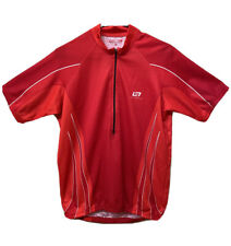 Bellwether Mens Cycling Jersey Half Zip Technical Apparel Shirt Red White Large