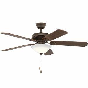 "Kichler 330330 Ezra 52"" 5 Blade Ceiling Fan - Bronze"