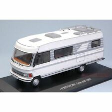TRIPLE 9/IXO - MERCEDES-BENZ HYMERMOBIL CAMPER VAN 1985 WHITE COLOUR 1:43 SCALE