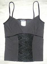 Samt Spitze Trägertop N4 MARC CAIN  collection schwarz  Gr.40 Top Shirt