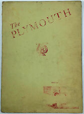 1953 Vintage MYSTERY Menu THE PLYMOUTH RESTAURANT Michel's At Unknown Location!