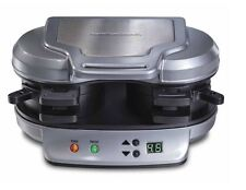 Hamilton Beach Dual Breakfast Sandwich Maker 25490 Nonstick Easy Clean 120 V