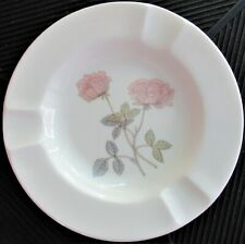 FINE COLLECTIBLE WEDGWOOD BONE CHINA ASHTRAY MADE IN ENGLAND FLAME ROSE PATTERN