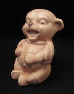 VINTAGE SYLVAC ENGLAND POTTERY SITTING LAUGHING BEAR FIGURINE