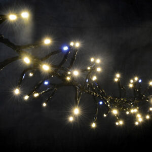 Lyyt Cluster LED Outdoor String Lights Twinkle Effect Warm White Fairy Light 7.5
