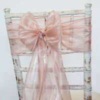 SILK ORGANZA CHAIR BOW SASH HOOD AND TABLE RUNNER 15 COLOURS WEDDING CHAIR EVENT