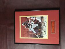 49ers Terrell Owens 1997 Leaf 8x10 photo framed double matted nameplate