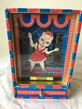 Cat Dancer Vintage Antique music box jewelry box 1979 Used See Video