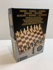 Spin Master Chess Set, Wooden Chess Pieces 100% Complete.