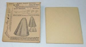 ANTIQUE VICTORIAN Sewing Pattern MCCALL BAZAR No 5350 LADIES SKIRT