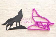 Wolf on rock cookie fondant cutter UK Seller