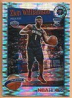 2019-20 NBA Hoops Premium Zion Williamson Rookie Tribute Pulsar Prizm RC #296