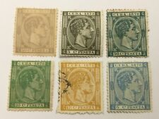 old stamps  CARIBBEAN     x  6  1878-79