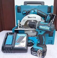 Makita Akku-Set DDF482RFJ + DHS680ZJ 18V; Bohrschrauber + Handkreissäge