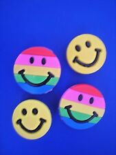 Clog Shoe Charm Button SMILE FACE For  Accessories For Wristband