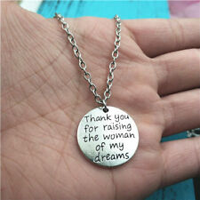 Thank you for raising the woman of my dreams silver Necklace alloy pendants
