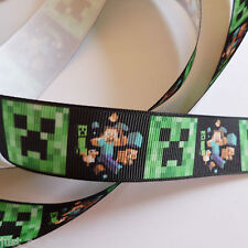 minecraft ribbon 1 metre -crafts - hair bows - dummy clips -cakes - sewing