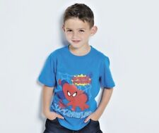 age18-24 month Spiderman Wall Crawler Blue Top T-Shirt Official licenced product