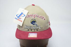 Champions Super Bowl XXIX 1994 Hat Logo Athletic w Tag San Diego Chargers 49ers
