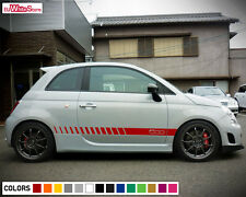 Decal Graphic Vinyl Side Stripes for Fiat 500 Abarth Skirt Body Door Racing Kit