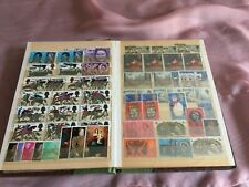 small stamp album with 15 pages of stamps
