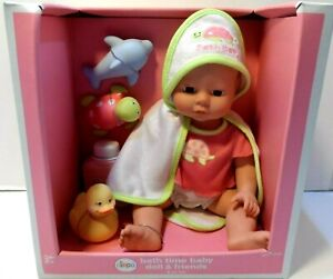 Bath Time Baby Doll & Friends by Circo 8 pc. set NEW see photos