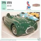 HWM JAGUAR 1954 CAR VOITURE Great Britain GRANDE BRETAGNE CARTE CARD FICHE