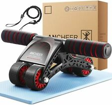 Ab Roller Wheel for Abs Workout Abdominal Exercise Fitness Pulling Rope Kit Home
