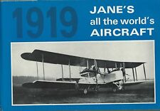 JANE'S ALL THE WORLDS AIRCRAFT 1919, ARCO NEW 1969 REPRINT,   FREE SHIPPING