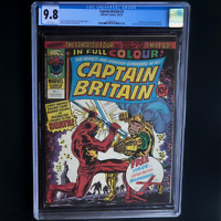 CAPTAIN BRITAIN #2 (Marvel 1976) 💥 CGC 9.8 WHITE PGs 💥 SCARCE - 1 OF ONLY 9!