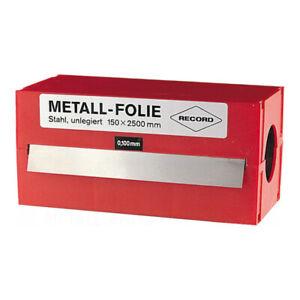 RECORD Metallfolie 150x2500 Metall Folienband Messing/Stahl/Nirosta 0,025-0,5mm