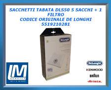 SACCHETTI TABATA DLS50 5 SACCHI + 1 FILTRO 5519210281 DE LONGHI ORIGINALE