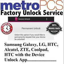 MetroPCS All LG G7 Aristo Leon Stylo 4 K10 K20 V10-V30 DEVICE APP UNLOCK SERVICE