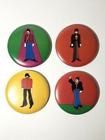 VTG The Beatles Pin Back Button-Lot of 4 Yellow Submarine Primrose-1968-3 1/2""